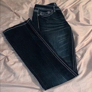 Bootcut Jeans- dark wash